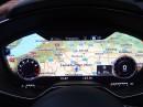 Navigationskarte auf TFT Monitor im Audi TT 2014