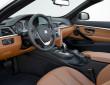 Innenraum des BMW 4er Cabrio mit Ledersitzen