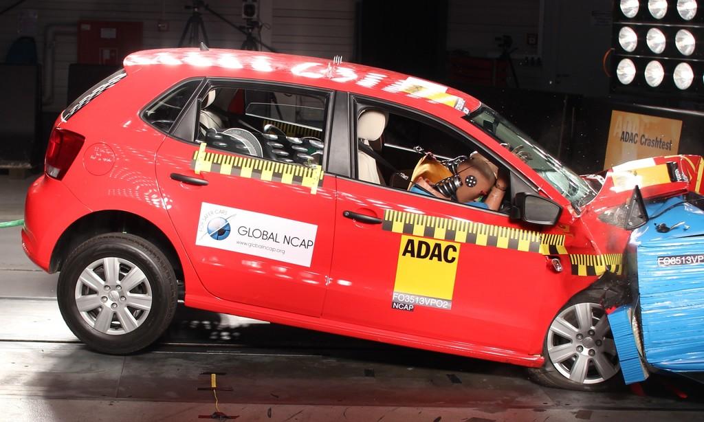 Der VW Polo beim indischen Crashtest