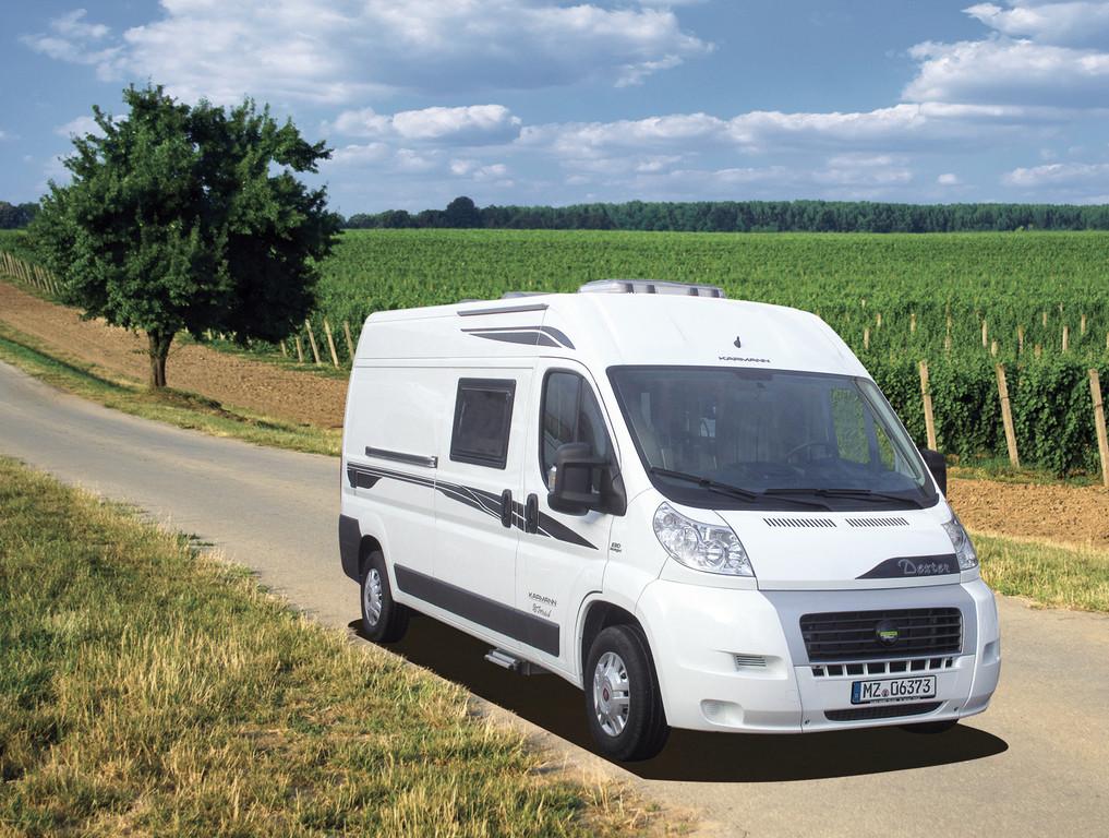 2014 Karmann-Mobil Dexter Go 600 wird auf der Stuttgarter Touristikmesse CMT gezeigt