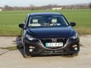 Frontaufnahme vom Mazda3 Skyactiv-G 120 Sports-Line