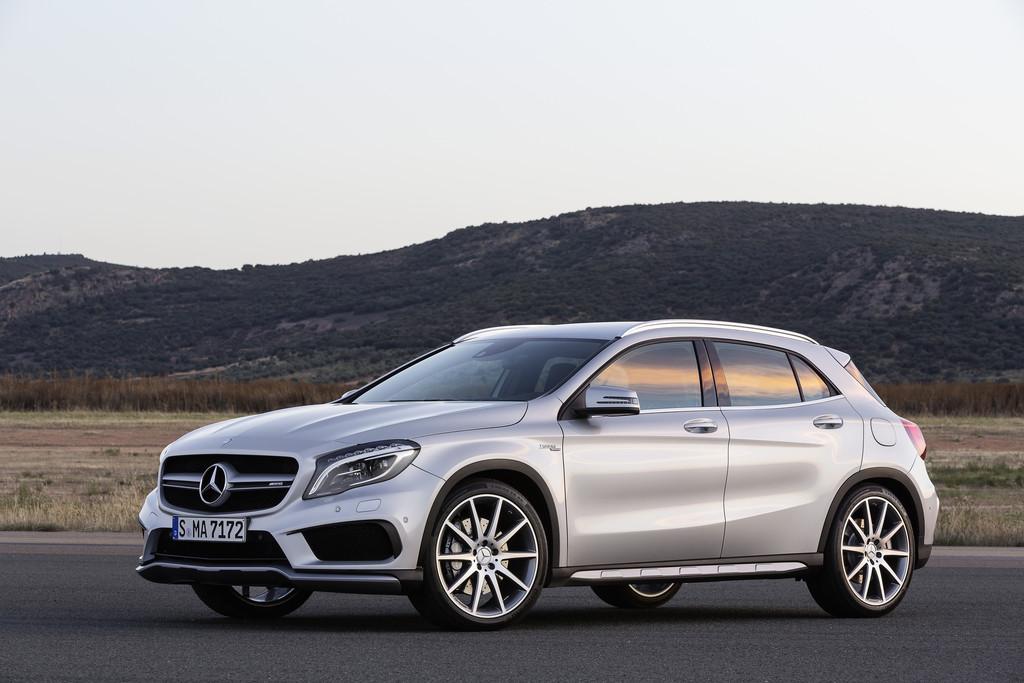 Aufnahme vom Exterieur des Mercedes-Benz GLA 45 AMG