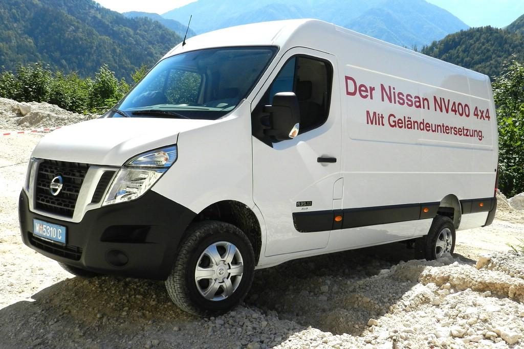 Oberaigner baut den Transporter Nissan NV400 zum Allradler für schwierige Untergründe um