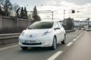 Nissans Elektromodell Leaf kommt im Winter 69 Kilometer weit