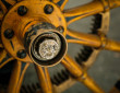 Das Rad des Elektrofahrzeuges Porsche P1