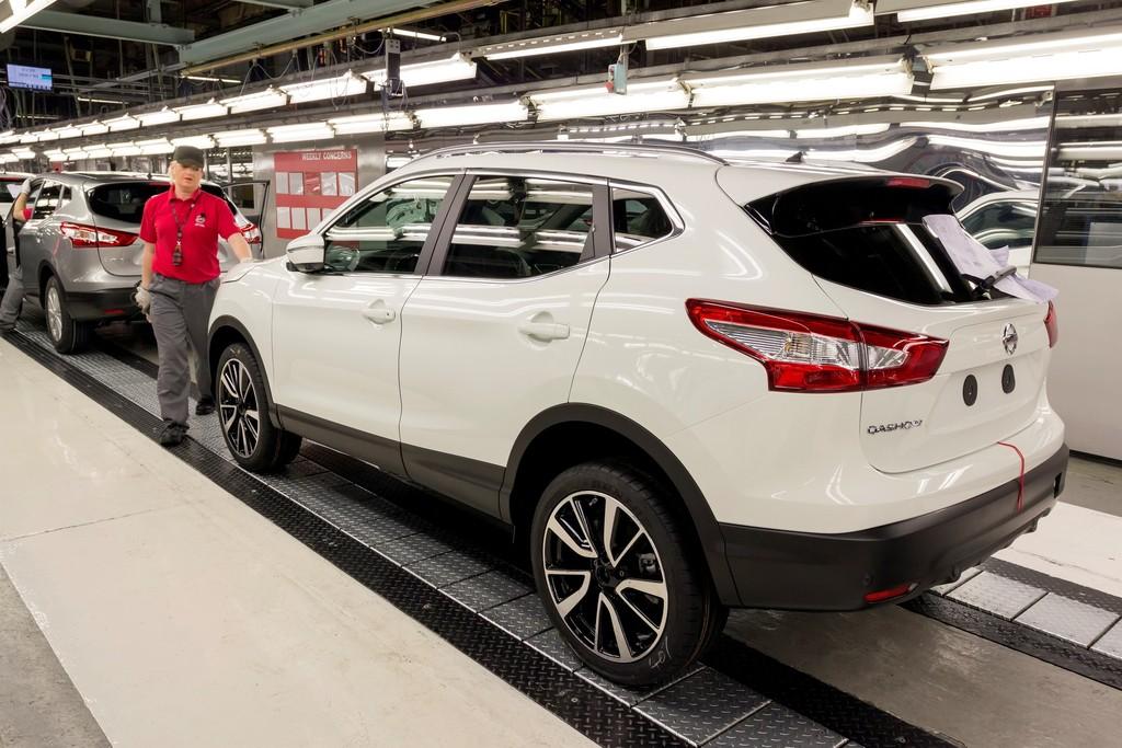 Crossover-Modell Nissan Qashqai im Nissan-Werk Sunderland