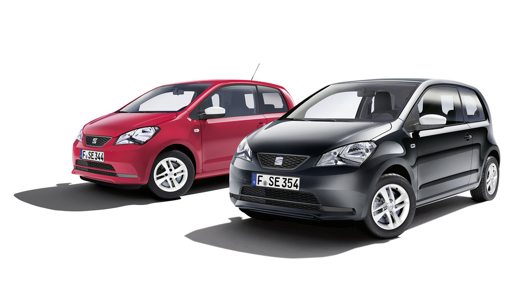 2014er Sondermodelle Seat Mii Edition Black und Edition Red