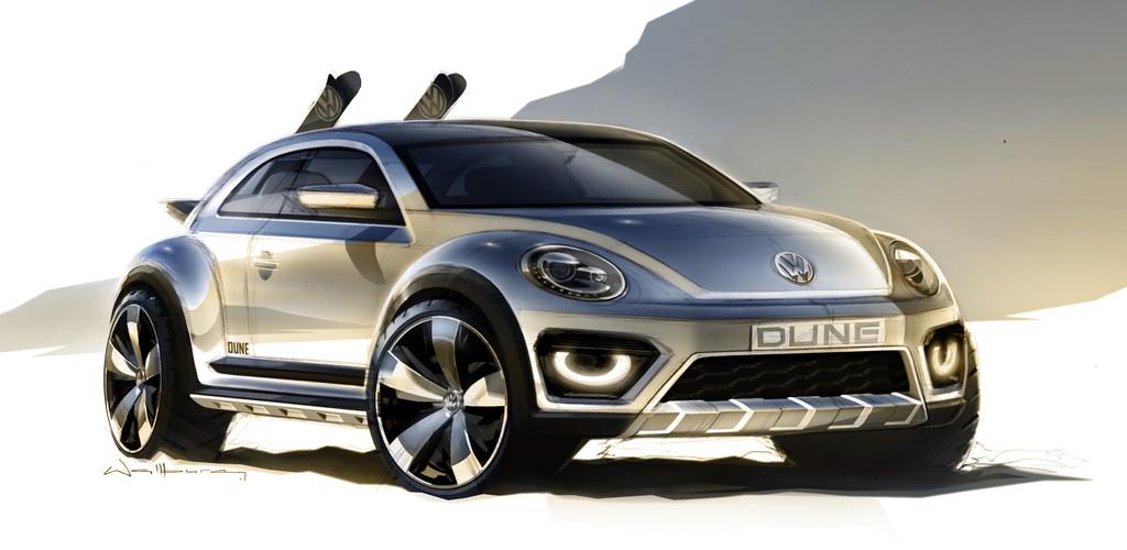 Konzeptauto Volkswagen Beetle Dune in silber