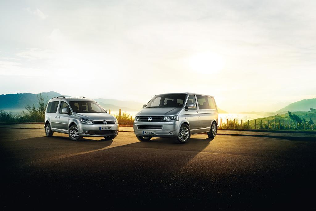 Die neuen Volkswagen Sondermodelle Caddy Cup und Mulitvan Cup.