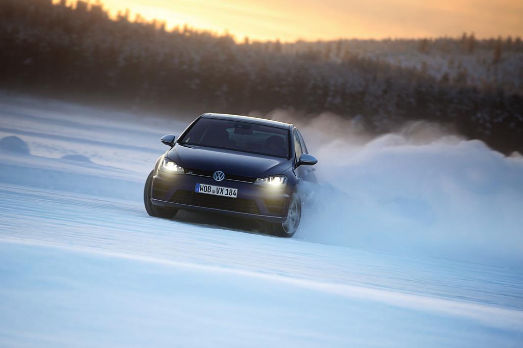 Driften mit dem neuen Volkswagen Golf R
