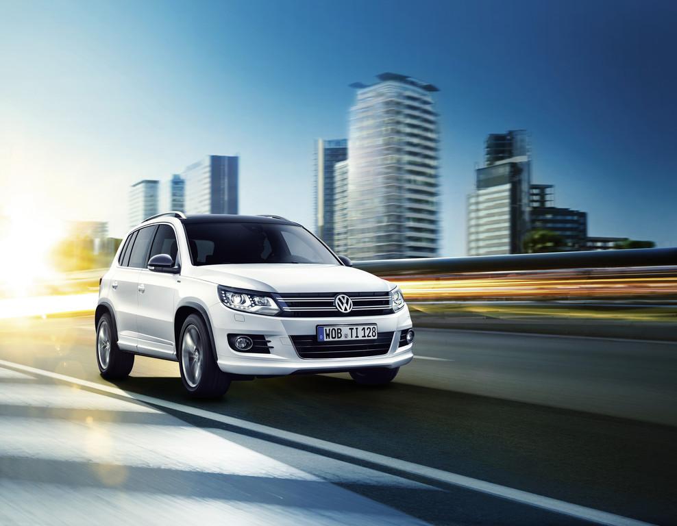 Der Volkswagen Tiguan als Sondermodell City Scape in weiß