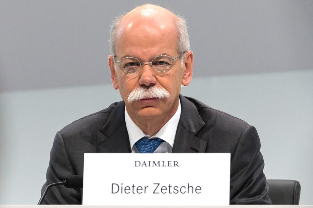 Daimler-Vorstandsvorsitzender Dieter Zetsche auf der heutigen Bilanz-Pressekonferenz