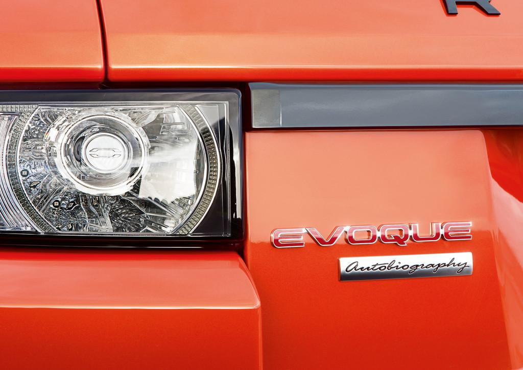 Das Emblem an der Heckklappe des Range Rover Evoque Autobiography Dynamic