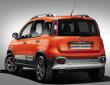 2014 Fiat Panda Cross in orange in der Heckansicht