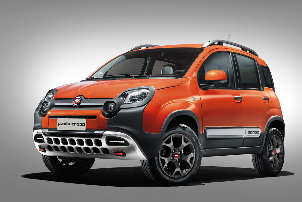 Die Cross-Version des Fiat Panda in orange