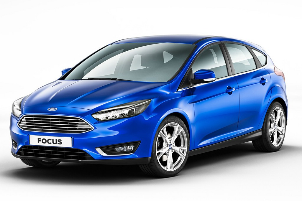 Blauer Ford Focus Facelift-odell 2014 / 2014