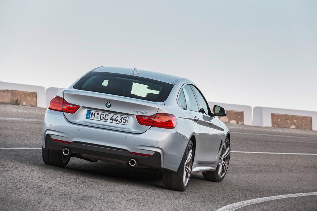 Die Heckpartie des neuen BMW 4er Gran Coupé