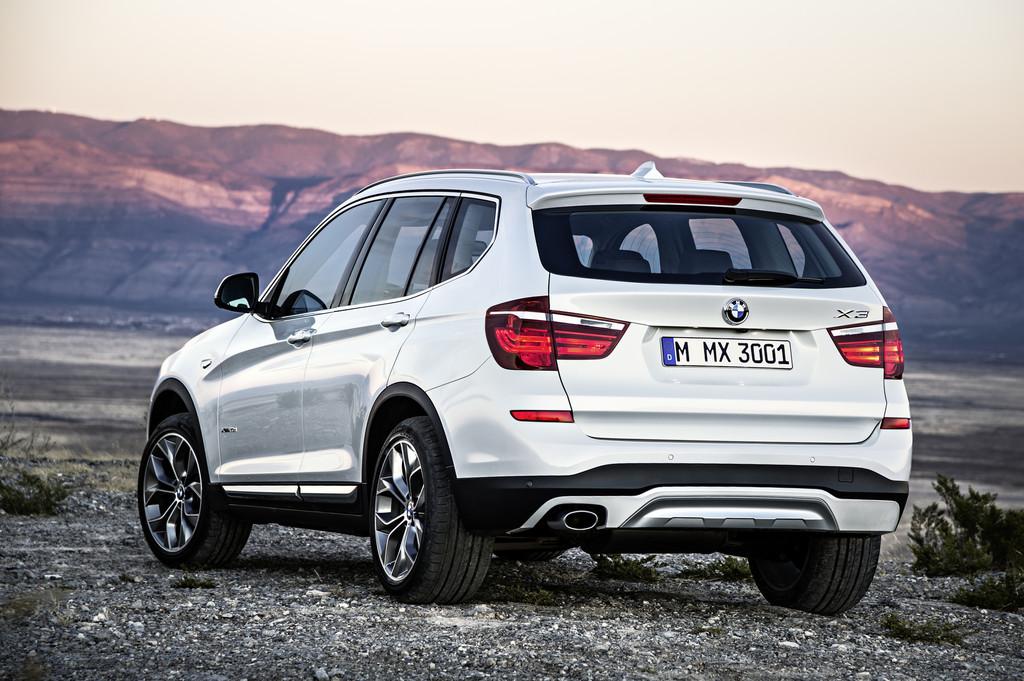 2014er BMW X3 Facelift-Modell in der weißer Lackierung