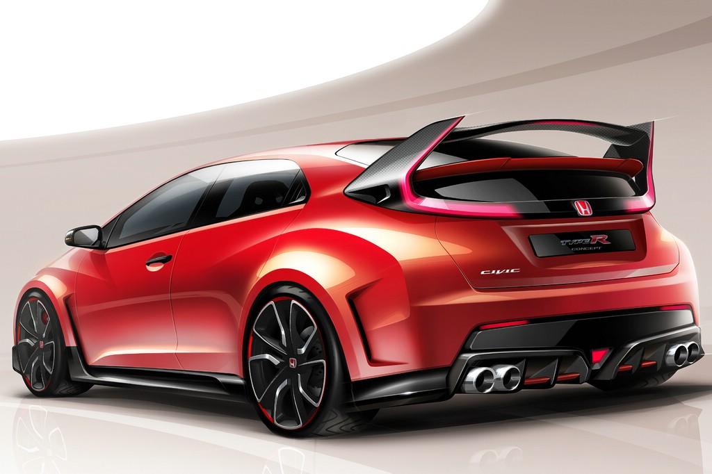 Ein Konzeptauto zeigt auf dem Genfer Autosalon, wie der neue Honda Civic Type R aussehen wird