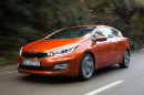 Der 135 PS starke Kia Pro Cee'd 1.6 GDI in orange
