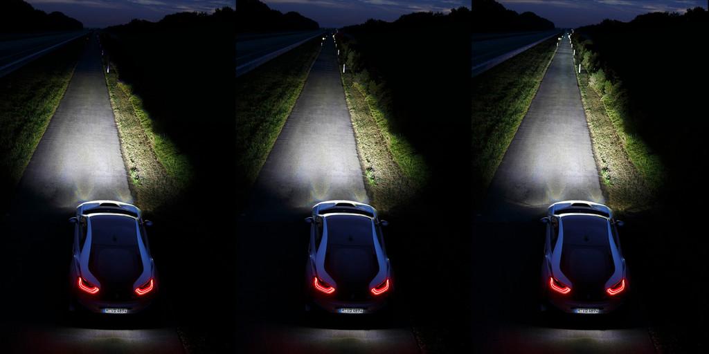 Das Leserlicht des Sportwagens BMW i8