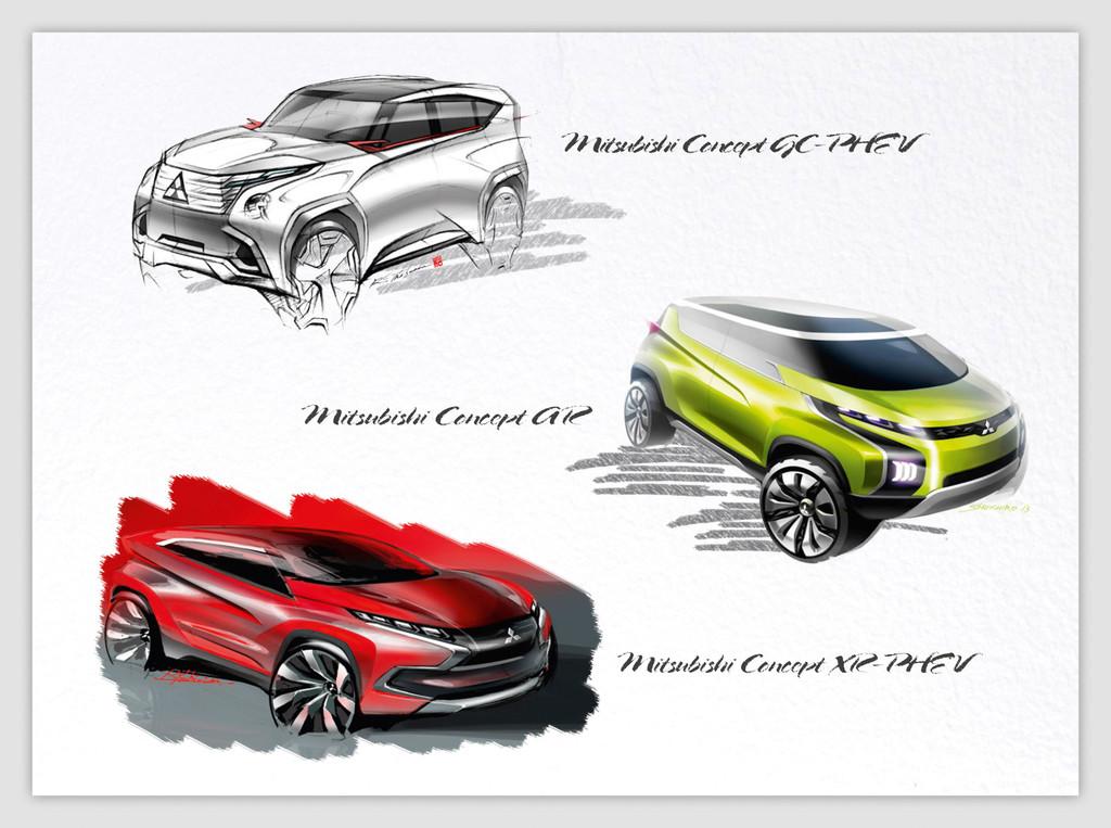 diese Mitsubishi Konzeptautos werden auf Genfer Autosalon 2014 gezeigt werden