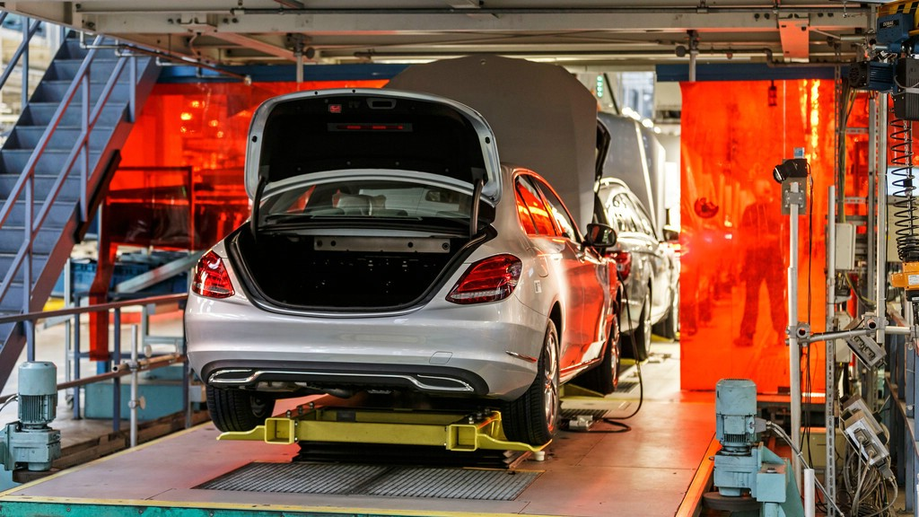Gebaut wird hier die neue Mercedes-Benz C-Klasse W205