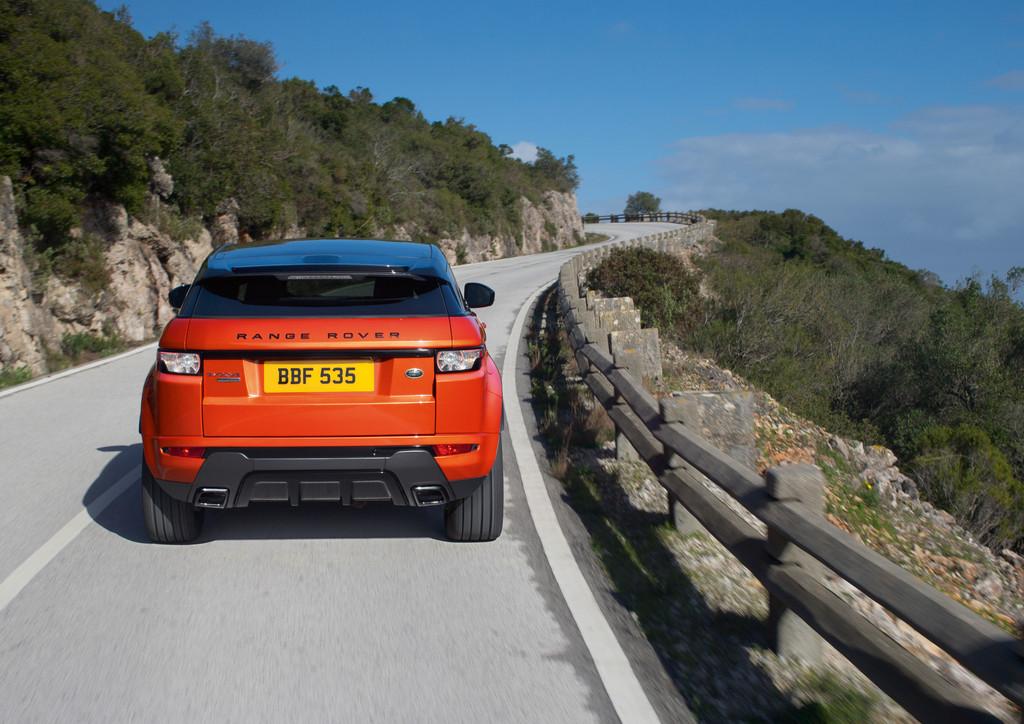 Heckansicht des SUV Range Rover Evoque Autobiography Dynamic