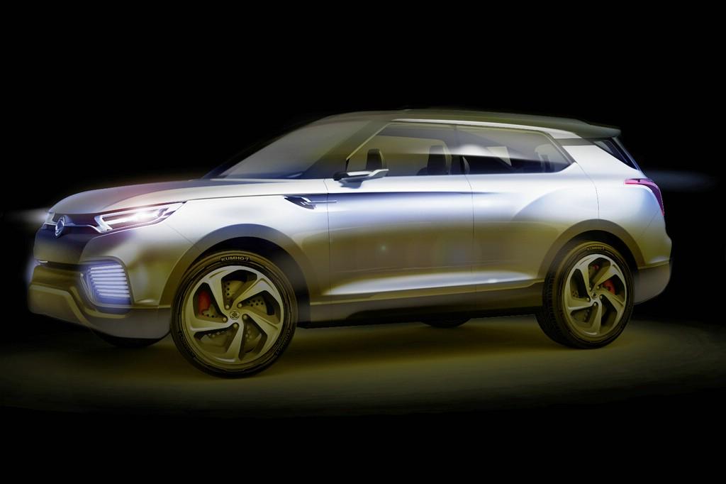 Konzept-Fahrzeug SsangYong XLV in der Seitenansicht