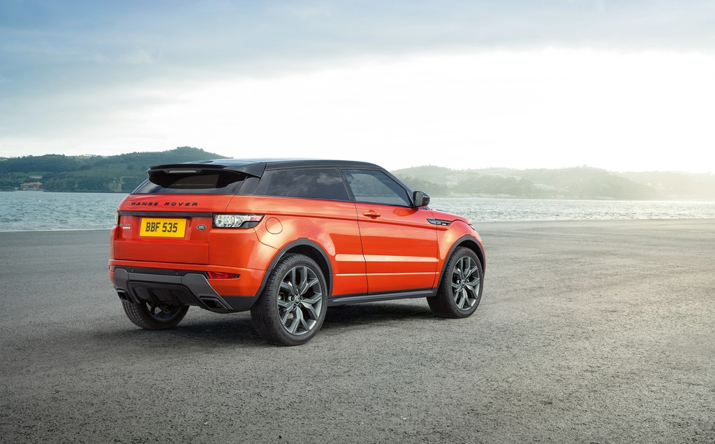 SUV-Modell Range Rover Evoque Autobiography Dynamic in der Farbe orange