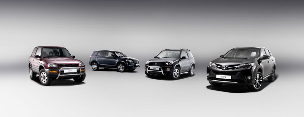 Bildvergleich Toyota RAV4 Baureihen nebeneinander