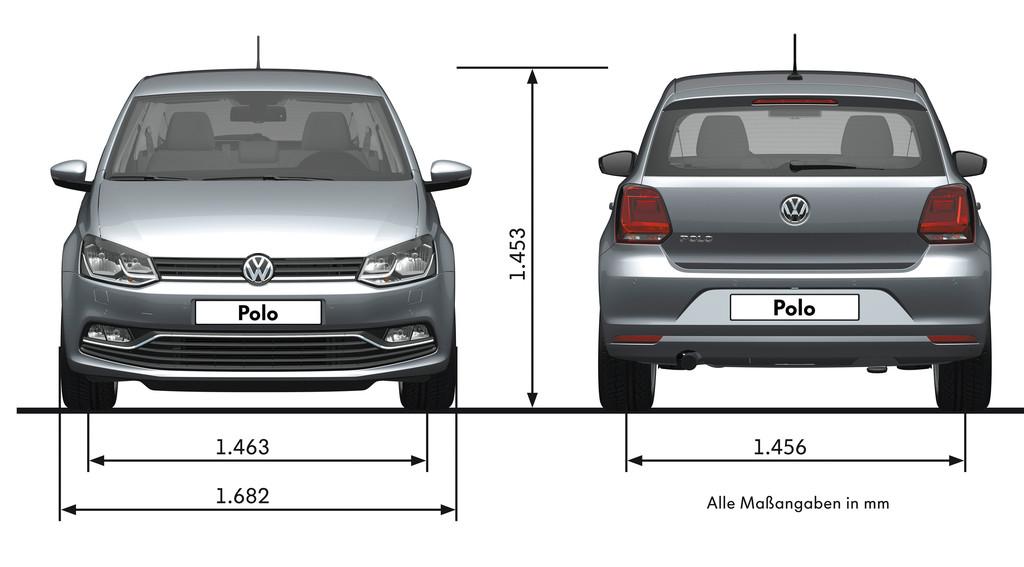 Facelift Volkswagen Polo Außenabmessungen, höhe, breite