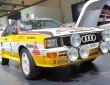 Highlight auf dem Audi Stand: Der Audi Rallye quattro A2.