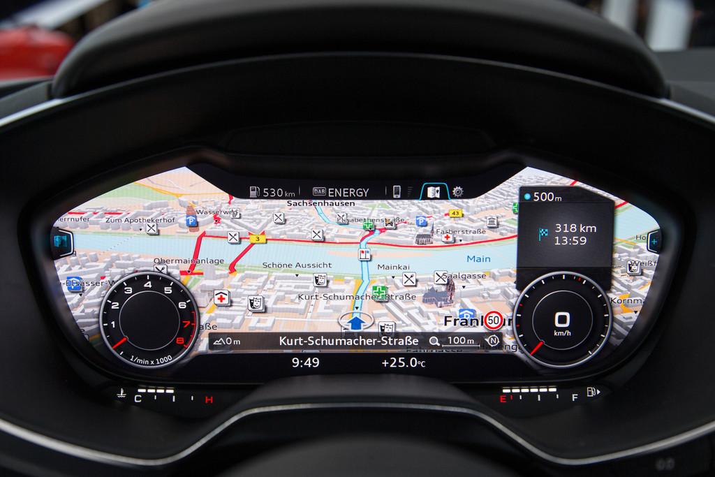 Display für alles im neuen (2014) Audi TT 8S
