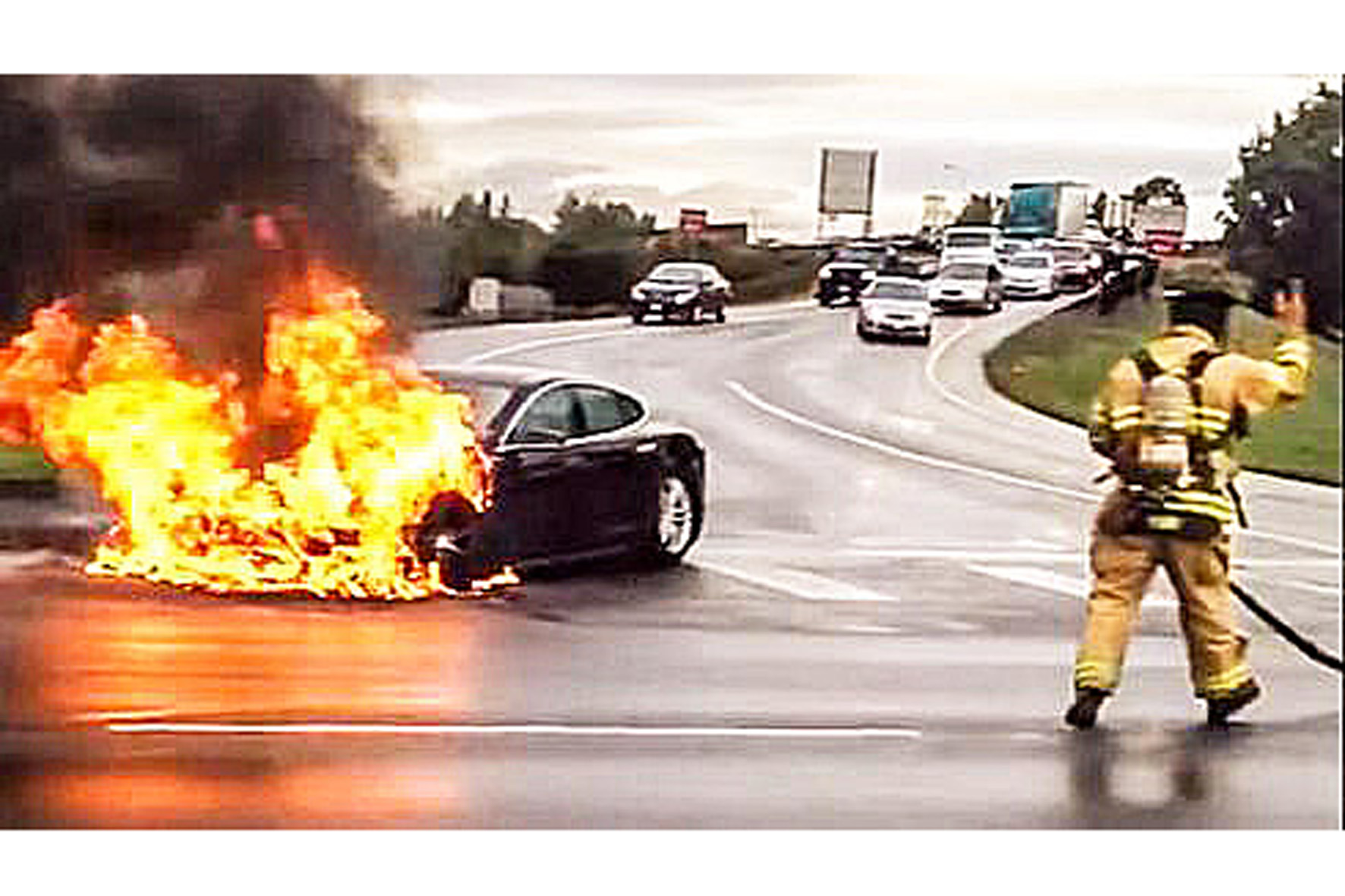 Autobrand: Der Tesla Modell S Brand in Amerika
