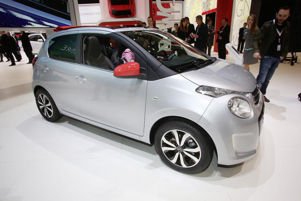 Die zweite Generation des Kleinstwagens Citroen C1 auf Genfer Autosalon 2014