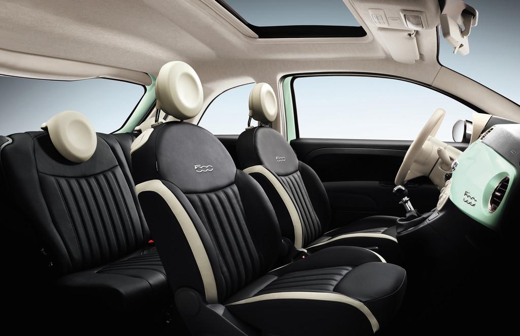 Die Ledersitze des neuen Fiat 500 Cult