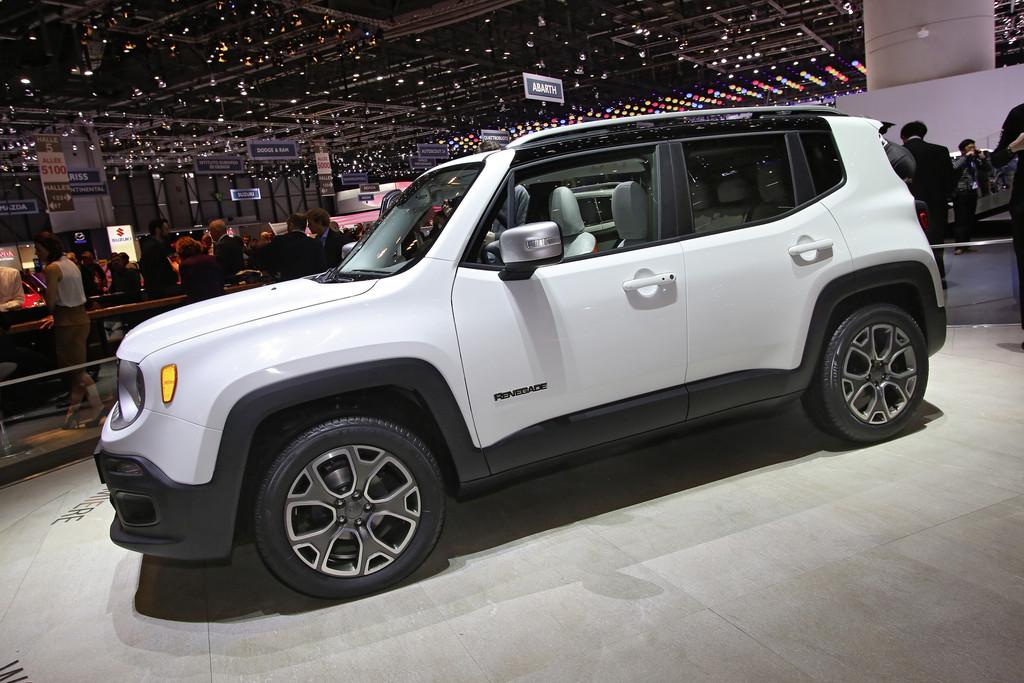 Präsentation des neuen Jeep Renegade auf dem Genfer Auto-Salon 2014