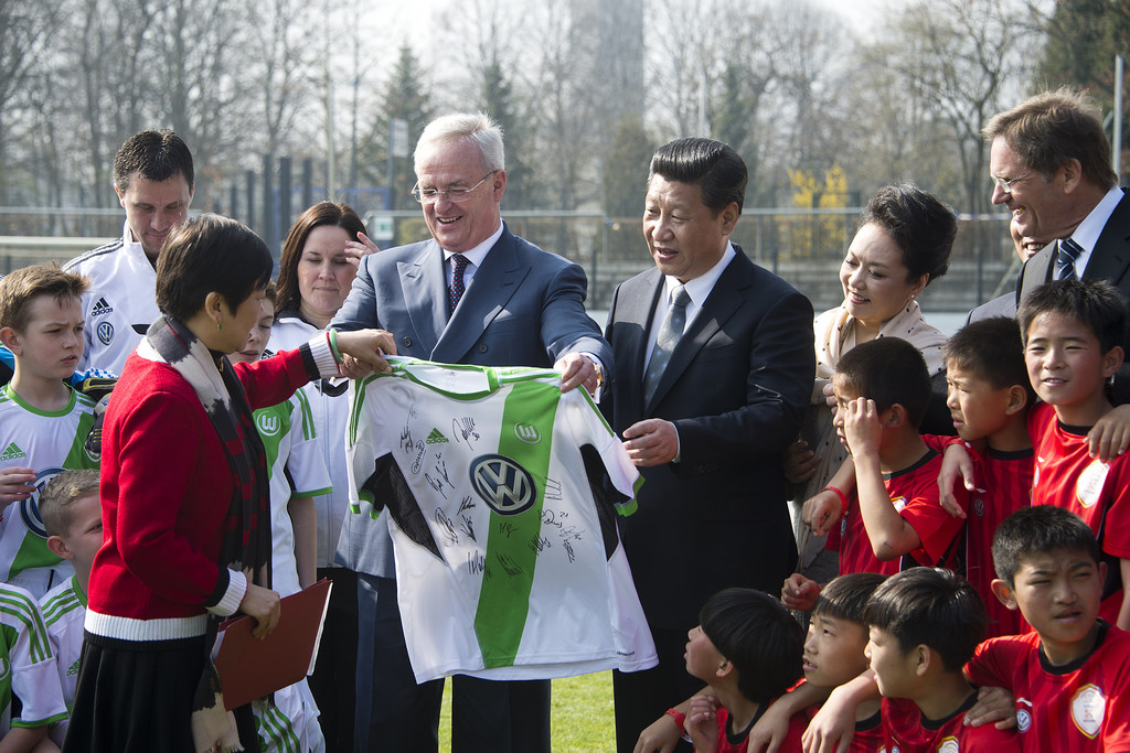 VW-Chef Martin Winterkorn und Chinas Präsident Xi Jiping