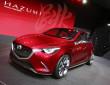 Concept Car Mazda Hazumi in dunkelrot in Genf