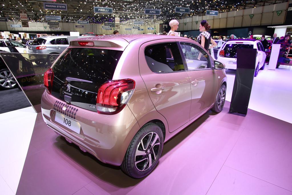 Vorstellung des Peugeot 108 auf dem Genfer Automobilsalon 2014