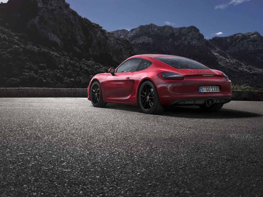 Außenaufnahme vom neuen Porsche Cayman GTS