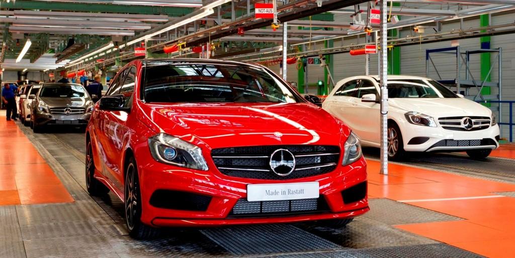 Die Fertigung der aktuellen Mercedes-Benz A-Klasse