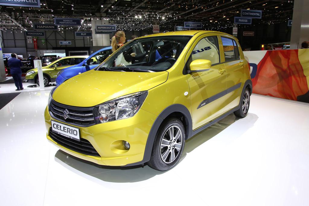 2014 Suzuki Celerio in Gold auf Genfer Autosalon 2014