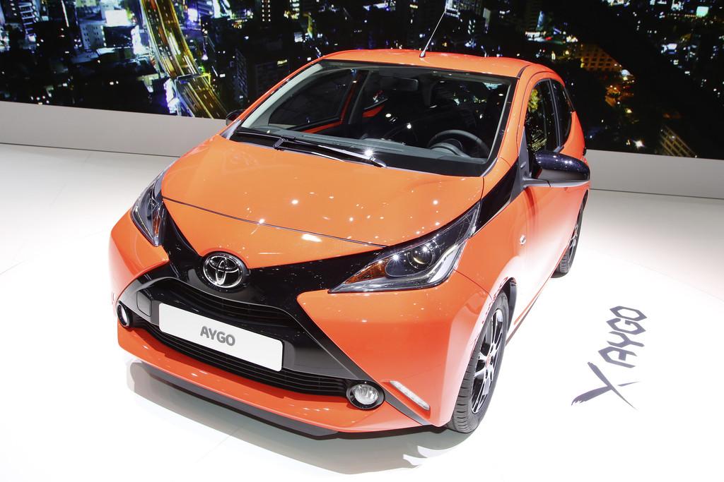 Vorstellung des neuen Toyota Aygo auf dem Genfer Automobilsalon 2014