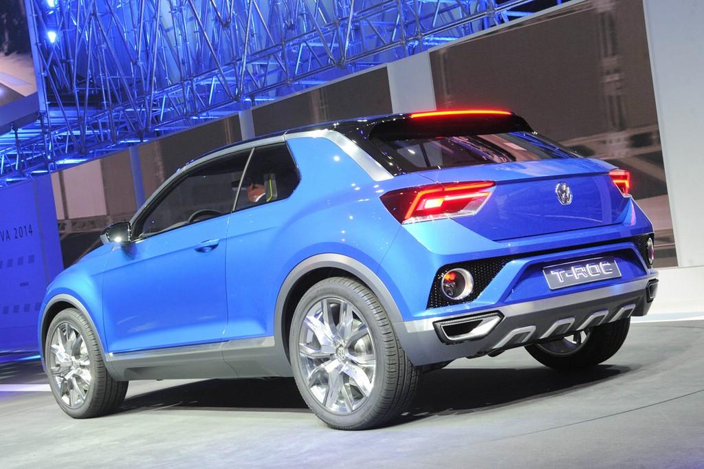 VW präsentiert die neue Studie T-ROC auf Autosalon Genf 2014