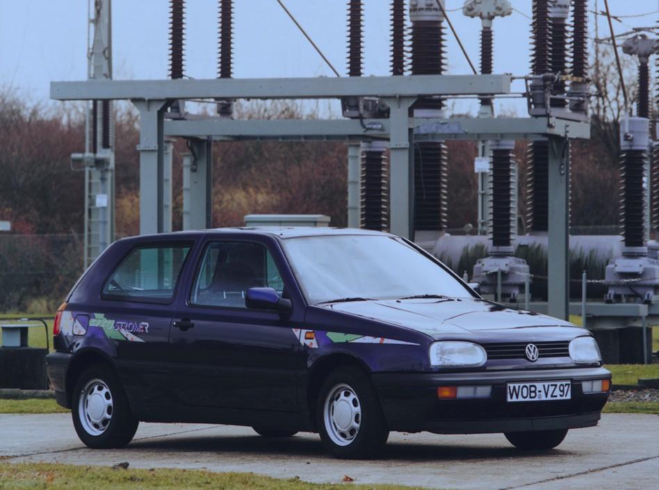 Unter der Haube des Volkswagen Golf 3 Citystromer