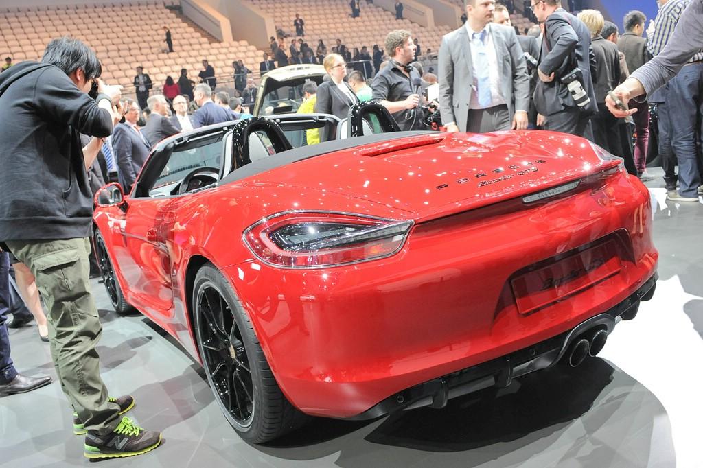 Porsche Boxster GTS auf der Pekinger Automesse Auto China 2014