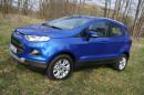 Blauer Ford Ecosport 1.0 l Ecoboost, Standaufnahme