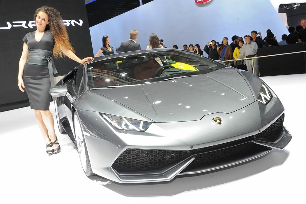 Grauer Lamborghini Huracan auf der Pekinger Motor Show 2014